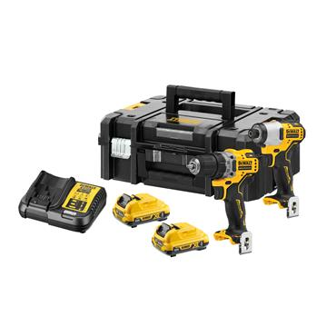 DeWALT DCK2110L2T 12 Volt XR Brushless Combo Kit, 2 x 2.0Ah Batteries