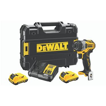 DeWALT DCF601D2 12 Volt XR Brushless Screwdriver, 2 x 2.0Ah Batteries