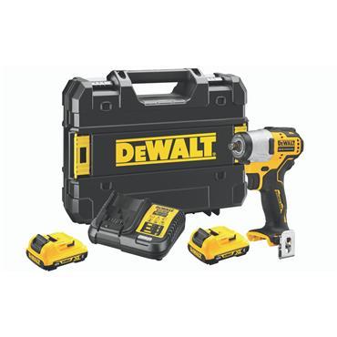 """DeWALT DCF902D2 12 Volt XR Brushless 3/8"""" Compact Impact Wrench, 2 x 2.0Ah Batteries"""