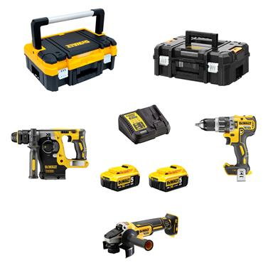 DeWALT DCK306P2T 18 Volt Triple Kit, 2 x 5.0Ah Batteries
