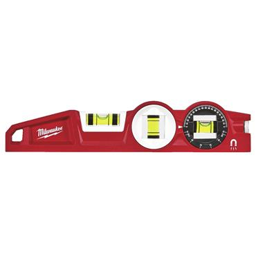 "Milwaukee 48225210 10"" Die Cast Torpedo Level with 360 Degree Locking Vial"