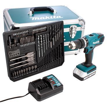 Makita HP457DW 18 Volt Cordless Combi Drill, 1 x 1.5Ah Batteries