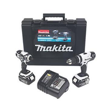 MAKITA DLX2020SW 18V 3.0AH LI-ION LXT Cordless Combi Drill & Impact Driver Twin Pack