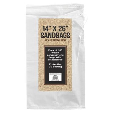 CITEC White Empty Sandbags - 100 Pack