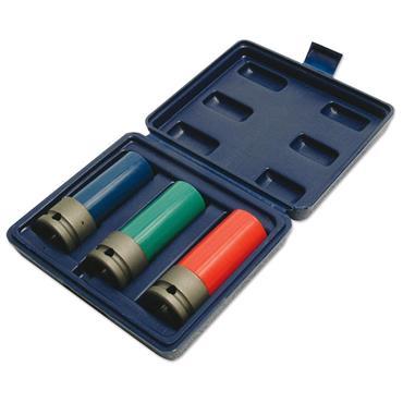 Laser 3039 3 Piece Wheel Nut Socket Set