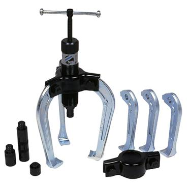 Sykes-Pickavant 155000 Hydraulic Twin and Triple Leg Puller Kit with Metal Case