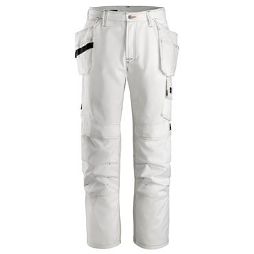 Snickers 3275 Painter's Holster Pocket Trousers - White