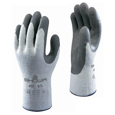Showa 451 Grey Cold Handling Latex Grip Gloves