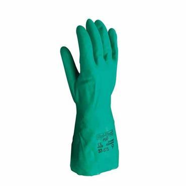 Ansell 37-675 Solvex Nitrile Chemical Resistant Gloves