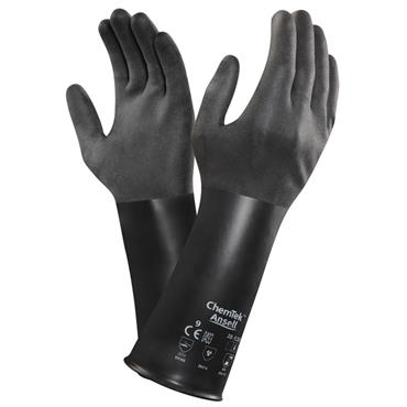 Ansell 38-520 ChemTek Butyl Chemical Resistant Gloves