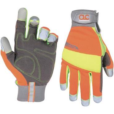 Custom LeatherCraft 128 Hi-Visibility Flex Grip Gloves