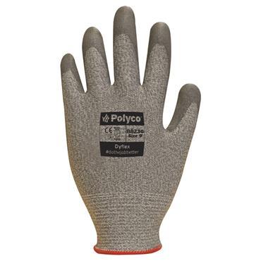Polyco Dyflex Grey Nitrile Cut Resistant Dyneema Gloves