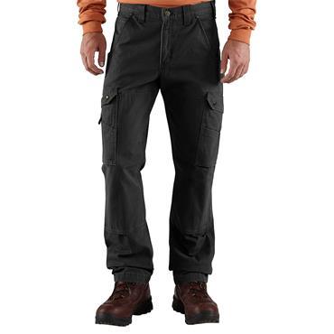 Carhartt B342 Cotton Rip-Stop Workwear Trousers - Black