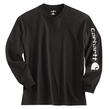 Carhartt EK231 Full Sleeve Logo T-Shirt - Black