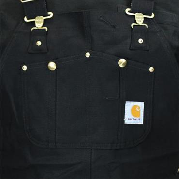 Carhartt R01 Multi-Pocket Duck Bib Overall - Black
