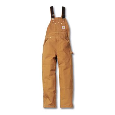 Carhartt R01 Multi-Pocket Duck Bib Overall - Brown
