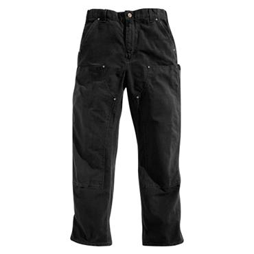 Carhartt EB136 Washed Duck Double-Front Work Trousers - Black