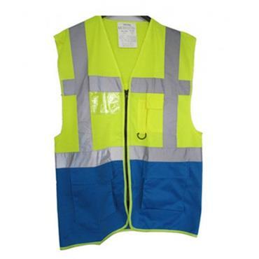 CITEC HVW801 High-Visibility Executive Vest/Waistcoat - Yellow/Royal Blue