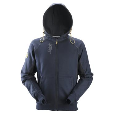 Snickers 2816 Zipped Logo Hoodie - Navy/Black