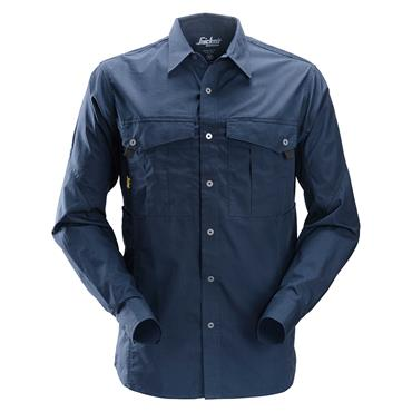 Snickers 8508 Full Sleeve Rip-Stop Shirt - Navy