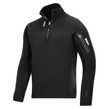 Snickers 9435 Body Mapping 1/2 Zip Micro Fleece Pullover - Black