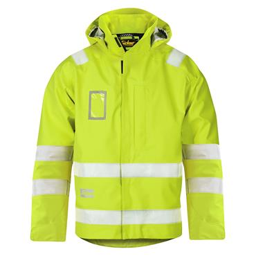Snickers 1973 Class 3 High-Visibility Waterproof Jacket - Yellow