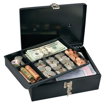 MASTERLOCK 7113D Cash Box with 7-Compartment Tray
