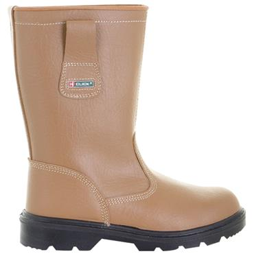 Tuskers RBLS Target S1P Safety Tan Rigger Boots