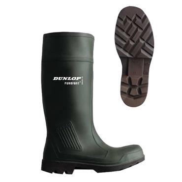 Dunlop C461841 S5 Professional Green Wellington Safety Boots