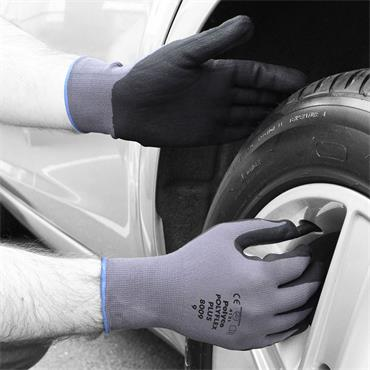 Polyco Polyflex® Plus Seamless nylon glove with foamed nitrile palm coating