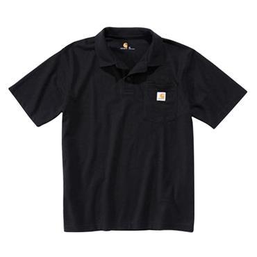 Carhartt 570 Contractor's Work Pocket Pique Polo Shirt - Black
