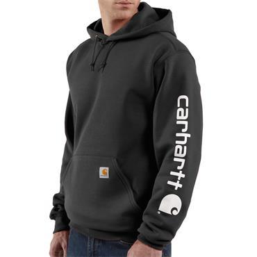 Carhartt K288 Midweight Hooded Logo Sweatshirt - Black