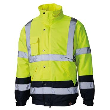 Dickies SA7005 High-Visibility Two Tone Pilot Jacket - Yellow/Navy