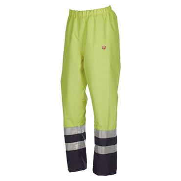 Sioen 5874 High-Visibility Tielson Flame Retardant Trousers - Yellow/Navy