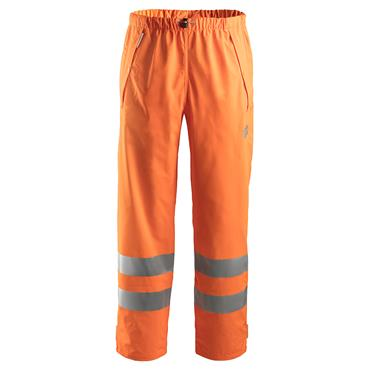Snickers 8243 Class 2 High-Visibility PU Rain Trousers - Orange