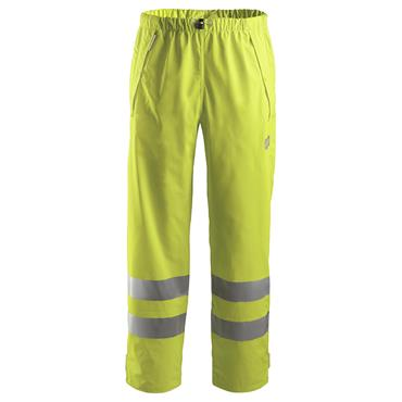Snickers 8243 Class 2 High-Visibility PU Rain Trousers - Yellow