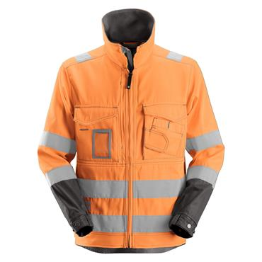 Snickers 1633 Class 3 High-Visibility Jacket - Orange/Muted Black