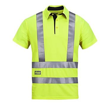 Snickers 2743 Class 2/3 High-Visibility A.V.S. Polo Shirt - Yellow