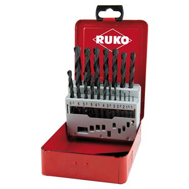 RUKO 214214S 19 Piece HSS Twist Drill Set
