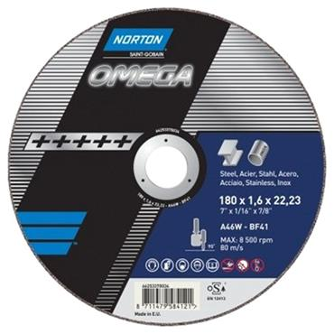 Norton 115 x 1mm Omega A60W Cutting Off Disc -  66253370025