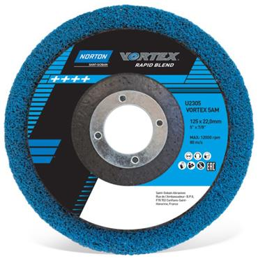 Norton 115 x 22mm Vortex Rapid Blend Finish Disc -  66254429268