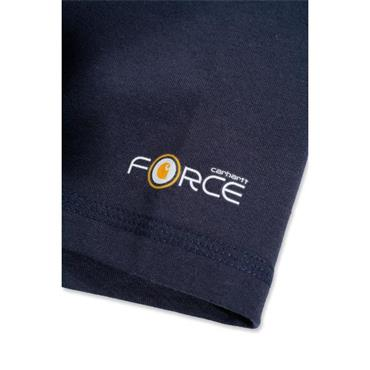 Carhartt 100413412 Force Cotton Half Sleeve T-Shirt -  Navy