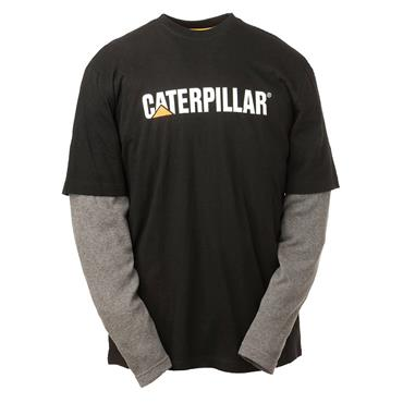 Caterpillar 1510495 Boys Full Sleeve T-Shirt - Black/Grey