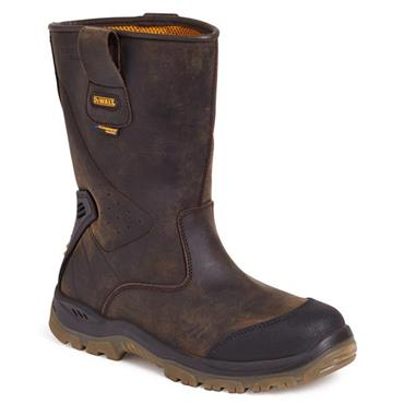 DeWALT Tungsten Waterproof Rigger Brown Safety Boots