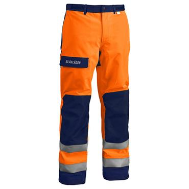 Blaklader 1808 Gore-Tex Shell Trousers - Orange/Navy