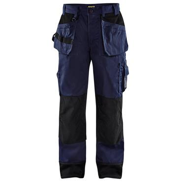 Blaklader 1503 Craftsman Trousers - Navy Blue/Black