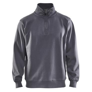 Blaklader 3365 Half Zip College Jersey - Grey