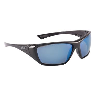 Bolle HUSTFLASH Hustler Safety Glasses - Polarized Blue Flash