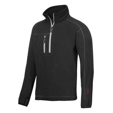 Snickers 8013 A.I.S 1/2 Zip Pullover Fleece Jacket - Black