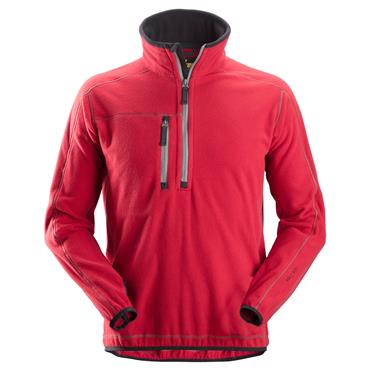 Snickers 8013 A.I.S 1/2 Zip Pullover Fleece Jacket - Chili Red